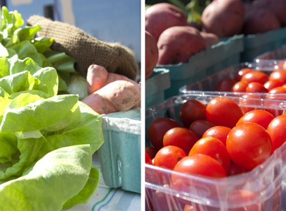 Cherry tomatoes and butter lettuce