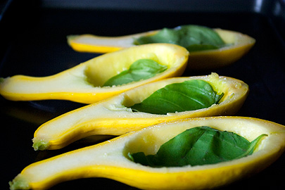 Yellow Squash with Basil