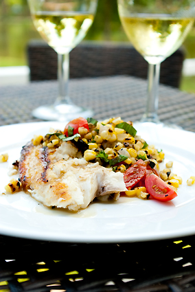 Grilled Tilapia with Charred Corn Relish